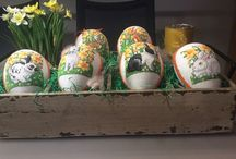 Kreuzstich Ostereier Cross Stitch Easter Egg / Ostereier Osterhasen, Bunnies