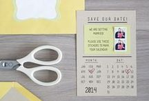 DIY: Printable Save The Dates / Printable Save the Date cards for brides on a budget and DIY weddings