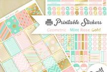 Stickers printable / Stickers printable pour les planners, happy planners...