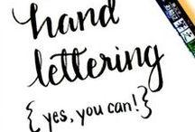 • Handlettering • / Handletter inspiration