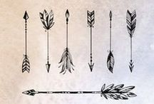 Feathers & Arrows. / >>>-------------------->