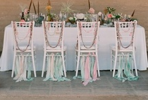 Rubans et Déco Mariage / Ribbons and Wedding Decoration / Ideas on how to use ribbons for your wedding / Idées de décoration de mariage avec des rubans