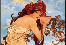 Art Nouveau / Organic flowing art from the late 19th & early 20th Centuries