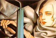 Tamara De Lempicka / Polish artist of the Art Deco era.