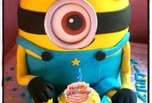 MINIONS / Minion cakes,cupcake,cake & cupcake toppers