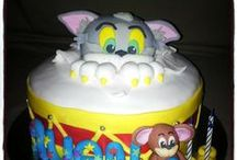 TOM & JERRY / Cakes,cupcakes, cake & cupcake fondant toppers.