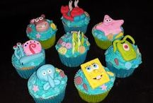 Sponge Bob & Friends / Cakes, cupcakes, fondant cake & cupcakes toppers. For more information & orders Email SweetArtBfn@gmail.com or call 0712127786
