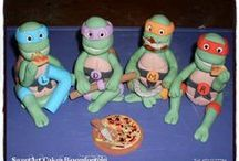 Ninja Turtles / Cakes, cupcakes, fondant cake & cupcakes toppers. For more information & orders Email SweetArtBfn@gmail.com or call 0712127786