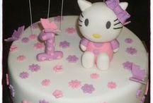 Hello Kitty / Cakes, cupcakes, fondant cake & cupcakes toppers. For more information & orders Email SweetArtBfn@gmail.com or call 0712127786