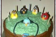 Angry Birds / Cakes, cupcakes, fondant cake & cupcakes toppers. For more information & orders Email SweetArtBfn@gmail.com or call 0712127786