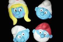 SMURFS / Cakes, cupcakes, fondant cake & cupcakes toppers. For more information & orders Email SweetArtBfn@gmail.com or call 0712127786