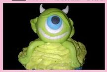 Monsters Inc. / Monsters Inc cakes, cupcakes & fondant cake and cupcake toppers.