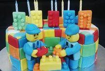 LEGO / Lego cakes, cupcakes & fondant decorations
