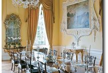 English Manor Interiors / Interiors are largely Georgian Era.