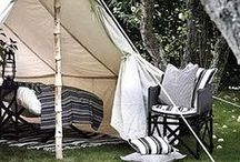 Glamping. / Getting my nature-girl freak jumpstarted.