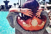 Flash Tattoo's / Temporary Sheebani metallic flash tattoos