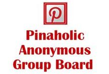 Pinaholic Anonymous    - Group Board / RULES⊛⊛ Keep to the Pinterest theme, anything non related will be removed and may result to you been blocked.⊛⊛ Please respect your fellow contributor by not flooding their feed. Do NOT pin over 10 images at a time ⊛⊛ Anything showing prices will be deleted, respect the RULES otherwise after one warning you will be removed.