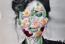 Fashion: photo's with illustrations / Amazing images that combine photography and illustrations