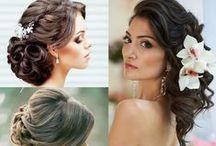 Bridal Hairstyles / Bridal Party, Bridal Party Hair, Bride Updo, Bridal Updo, Beach Waves, Bridesmaids, Bridesmaid Hairstyles, Bridesmaids Hair, Maid of Honor
