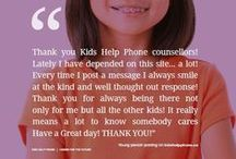 Stories of hope / Hear the stories of some of the kids, teens and young adults we've been able to help.  / by Kids Help Phone