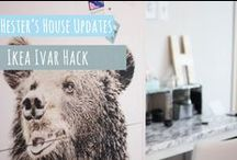 DIY: Hester's House Updates / You don't need a lot of money or skills to turn an old worn out house into a stylish home. Have a look at how Hester transforms her home one project at the time.