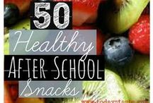 Healthy Snacks / Sometimes mothers get too busy to figure out healthy snack options for our kids. Here's some inspiration!
