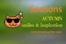 SEASONS: #Autumn Inspiration and Smiles /  Seasonal outdoor photos and garden decorating: fall colors, Halloween, Thanksgiving