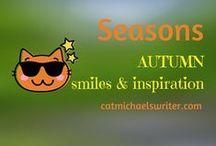 SEASONS: #Autumn Inspiration and Smiles /  Seasonal outdoor photos and garden decorating: fall colors, Halloween, Thanksgiving