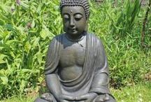 Buddha Garden Ornaments by Gardens2you / Add a touch of calm and tranquillity to your outdoor space with our range of garden Buddha ornaments. Please feel free to re-pin to your own garden inspiration boards.