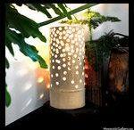 Ceramic lighting. Oświetlenie z ceramiki. / Ceramic lamps, candle holders and candle pads. Ceramiczne lampy, świeczniki i podstawki pod świece.