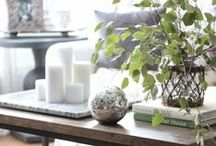Living Rooms / Living room décor, coffee table styling