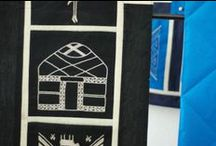 Kyrgyzstan Crafts / handmade quilts and quilted pieces from Kyrgyzstan