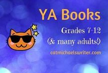 BOOKS: Young Adults (YA): Grades 7-12 / YA books feature teen protagonists dealing with devastating external problems placed upon them.  Books are 200 pages  or more, do not have illustrations, and often feature mature themes the protagonist must resolve.