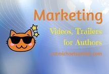 MARKETING for Writers: Videos, Vlogs, and Book Trailers / Tuts, tips and samples of how to use video in your social media platform and grow followers.  Making book trailers for authors, too.