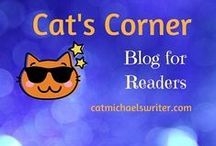 Blog ~ Cat's Corner: Books, Writing, Movies, Kid Lit Life, and More / Taking time to reflect, rejoice, and share what's going on in my world....Indie author, writing coach and former educator, wanna-be photographer, small-space gardener, film buff, beach-goer, book nerd, and nature lover.