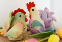 A Whimsical Easter Breakfast / We dream of waking up to a spring breakfast with a touch of whimsy, farm-stand joy and whole slew of  cute handmade friends and bunnies