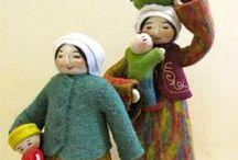 Motherhood Dolls / Moms and Grandmoms - the tenderness of maternity