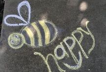 Chalk Art / Spread the message of Live Happy with your own Chalk Art!