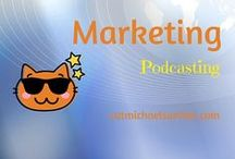 Marketing for Writers - Podcastingand Audiobooks / Podcasting is taking off!  This technology is a great way to reach your audience/readers, share ideas, and show your expertise. Lots to understand about what makes some podcasts sail while others sink.  And audiobooks are now within the realm of possibility, thanks to technology and the explosion of self-publishing.