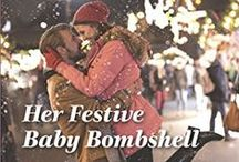 Her Festive Baby Bombshell / Life-changing news this Christmas!   Since their spontaneous and magical night together, Holly Abrams has avoided her boss, CEO Finn Lockwood. When they're thrown together on a charity project aboard Finn's luxury yacht, the tension between them skyrockets. When Holly starts to feel unwell, she puts it down to seasickness, until the doctor confirms that Holly and Finn can expect two unplanned gifts this Christmas—Holly is pregnant with twins…!