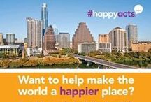 Happiness Walls 2016 / Live Happy hosts happiness walls across the country in celebration of the International Day of Happiness! We ask you to share happiness through #HappyActs - small actions that make someone's day a little brighter. What #HappyActs will you do?