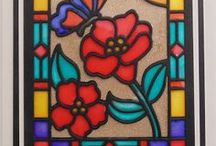 stained glass crafts / stained glass crafts, stained glass ideas