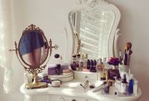 Home and Storage Ideas / Pretty and playful ways for storing my makeup and other things!