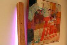Led-lamp #lamp / Exclusieve handgemaakte led-lamp in elegante vorm, die op eigenzinnige wijze de ruimte van kleur en indirect licht voorziet.   In beperkte oplage te koop, meer informatie op www.belok.nl of via 06 24 21 46 46