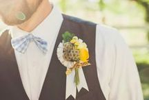Blooms for Grooms / Don't forget about some floral love for the most important man in your life (and his dapper groomsmen)!