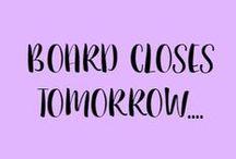 Zzz - Closed Board. / **CLOSED BOARD**