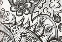 Zentangle / Zentangle drawings: tutorials, technique, inspiration