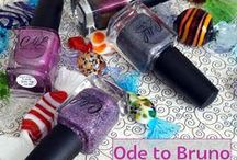 Ode to Bruno Collection / The Ode to Bruno collection is a 4 polish set. Leah Ann, creator of Colors by llarowe is a big Bruno Mars fan. She created this collection as a fun tribute. Polish names are Having Bruno's Babies, Hooligans, Mark Needs Love Too and Uptown Funk You Up!