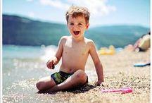 Melissa - Beach Kids / Children's Photography; Family Photography, beach; 3 kids; parents; natural light; relaxed style
