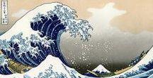 "Kanagawa-oki nami ura / variations of Katsushika Hokusai's ""The Great Wave off Kanagawa"" (神奈川沖浪裏), c. 1829-1833"